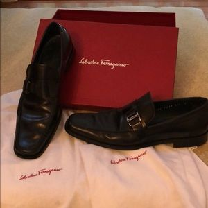 Salvatore Ferragamo Men's Black Shoes size 9 US